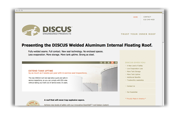 DISCUS Engineered Products Website