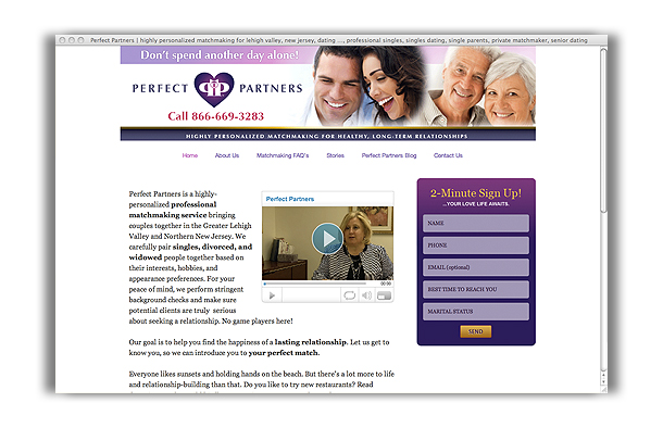Perfect Partners - Website