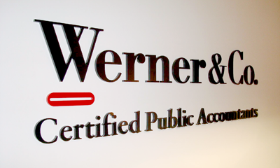 Werner and Co. Office Signage